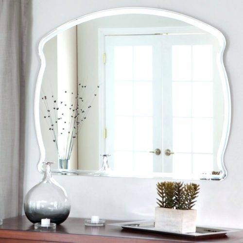 Wall Mirrors ~ Full Length Wall Mirror Framed Bathroom Wall Within Large Wall Mirrors Without Frame (#11 of 15)