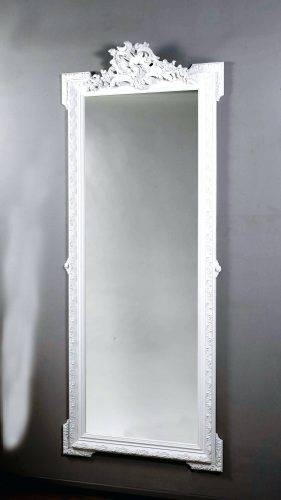 Wall Mirrors ~ Full Length Wood Framed Wall Mirror White Wall Pertaining To White Full Length Wall Mirrors (#11 of 15)
