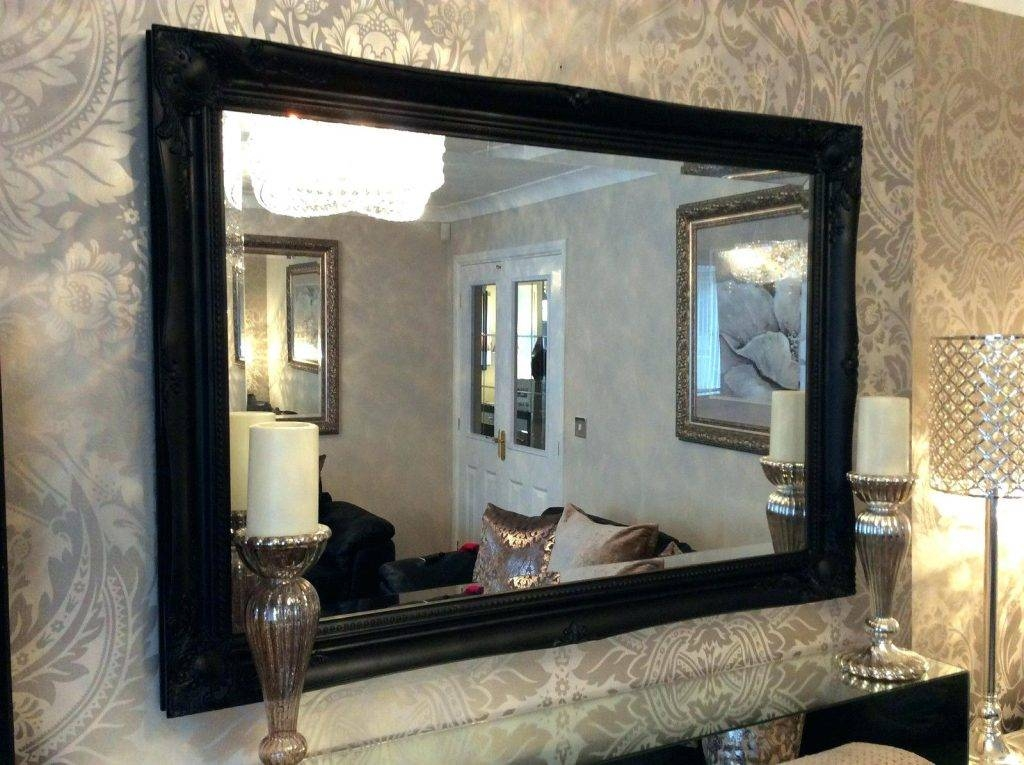 Wall Mirrors ~ Full Size Of Mirrorsilver Ornate Wall Mirror Large In Large Black Wall Mirrors (#15 of 15)