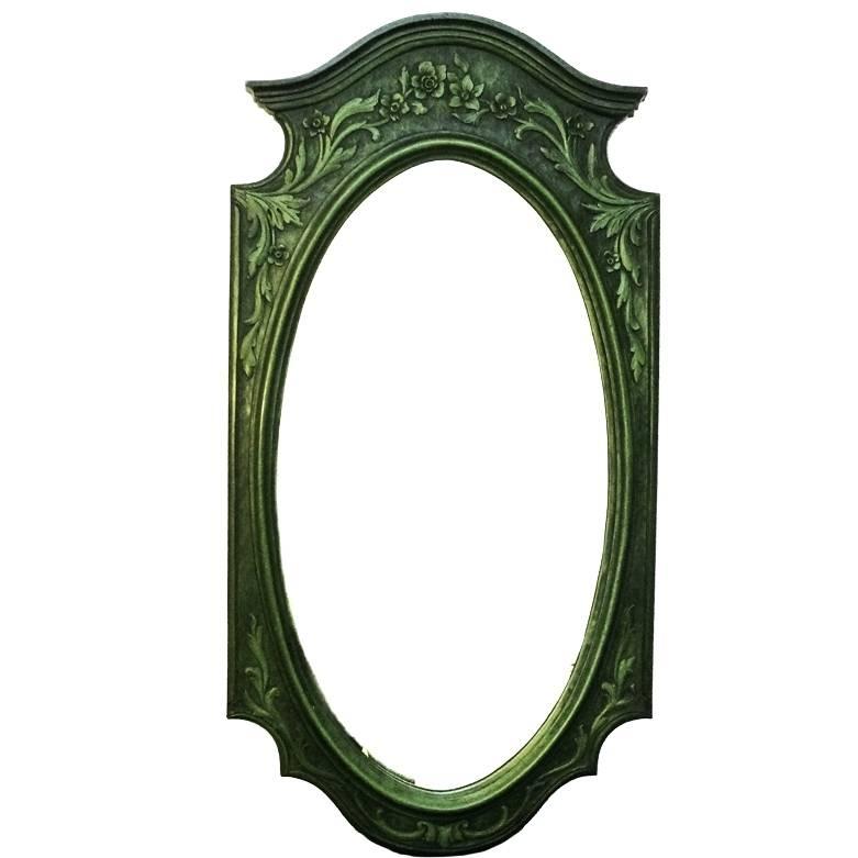 Wall Mirrors ~ Green Framed Wall Mirror Blue Green Wall Mirror For Green Wall Mirrors (View 15 of 15)