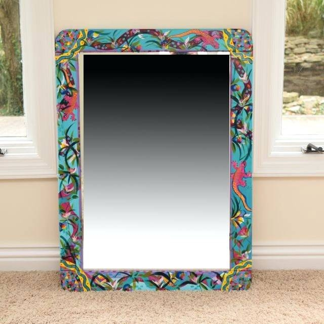 Wall Mirrors: Hand Painted Wall Mirrors (#15 of 15)