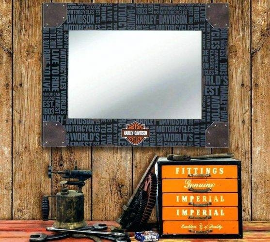 Wall Mirrors ~ Harley Davidson Wall Mirrors Harley Davidson Home Within Harley Davidson Wall Mirrors (#8 of 15)