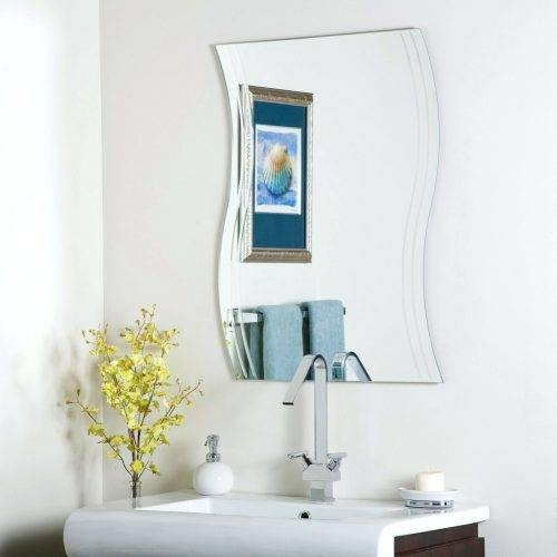 Wall Mirrors ~ Image Of Bathroom Frameless Wall Mirror Infinity With Infinity Frameless Wall Mirrors (#12 of 15)