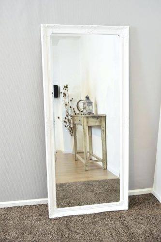 Wall Mirrors ~ Image Of Full Length Ebony Framed Mirror White Full Regarding White Full Length Wall Mirrors (#12 of 15)