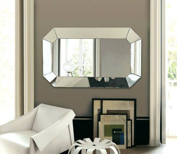 Wall Mirrors ~ Large Frameless Wall Mirrors Uk Large Frameless Throughout Big Frameless Wall Mirrors (#15 of 15)