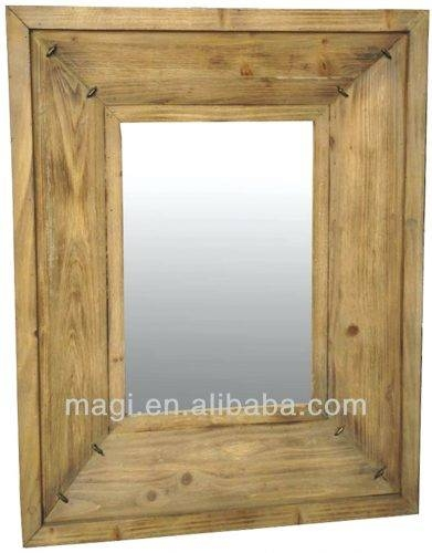 Wall Mirrors ~ Large Grey Wall Mirror French Style Grey Wall With Regard To Cherry Wood Framed Wall Mirrors (#11 of 15)