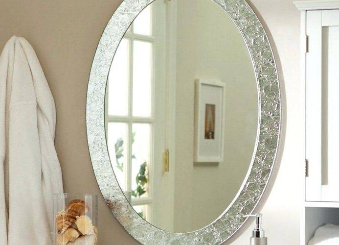 Wall Mirrors: Large White Framed Wall Mirror (#13 of 15)