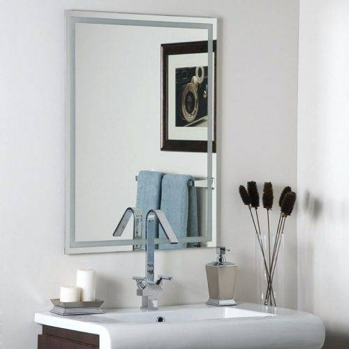 Wall Mirrors: Large White Framed Wall Mirror (#12 of 15)