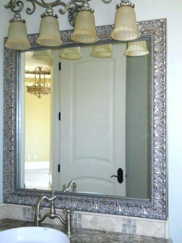 Wall Mirrors: Large White Framed Wall Mirror (#14 of 15)