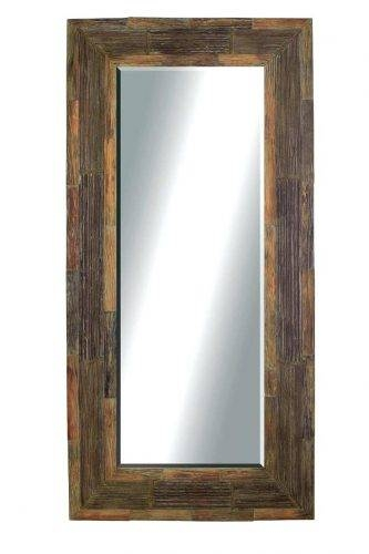 Wall Mirrors ~ Leather Framed Mirrors Uk Saxon Wrap Leather Square In Leather Framed Wall Mirrors (#12 of 15)