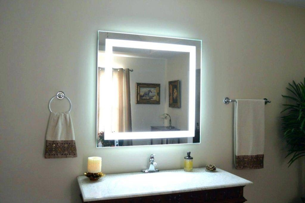 Wall Mirrors ~ Makeup Mirror Wall Mount Review Vanity Mirror Wall With Regard To Makeup Wall Mirrors (#14 of 15)