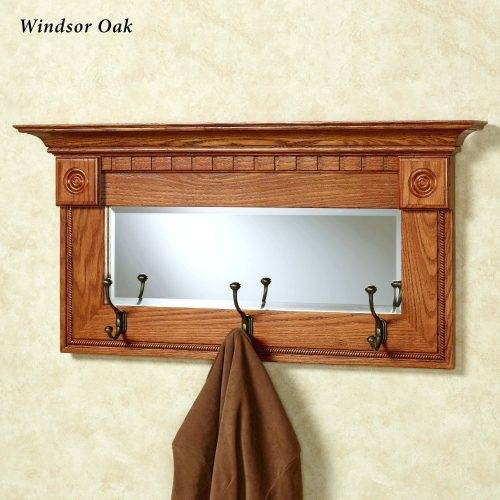 Wall Mirrors ~ Mirror With Coat Hooks And Shelf Entry Mirror With Inside Wall Mirror With Coat Hooks (#12 of 15)