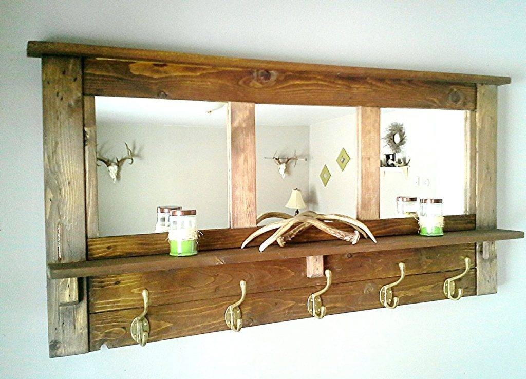 Wall Mirrors ~ Mirror With Coat Hooks Wall Coat Rack Mirror Mirror Regarding Wall Mirror With Coat Hooks (View 7 of 15)