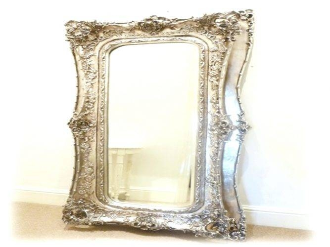Wall Mirrors ~ Mirrorslarge Modern Silver Mirror Large Modern Pertaining To Large Silver Wall Mirrors (#15 of 15)