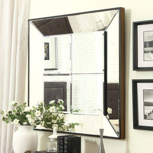 Wall Mirrors ~ New Silver Framed Wall Mirrors Bathroom 70 In With In Large Square Wall Mirrors (#15 of 15)