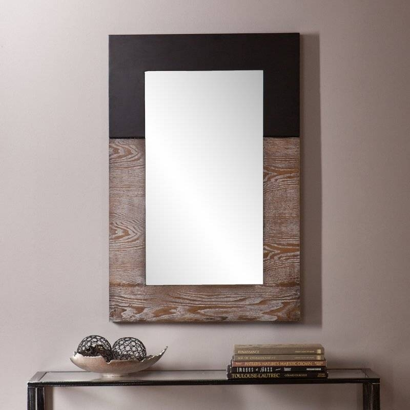 Wall Mirrors Pertaining To Wood Wall Mirrors (#13 of 15)
