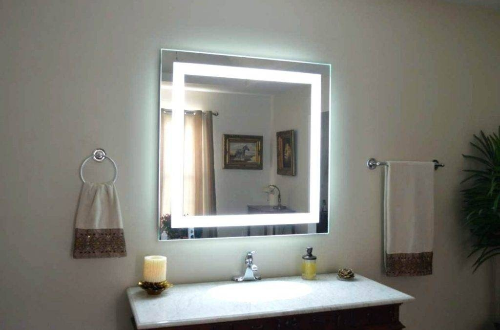 15 Photo Of Large Lighted Bathroom Wall Mirrors