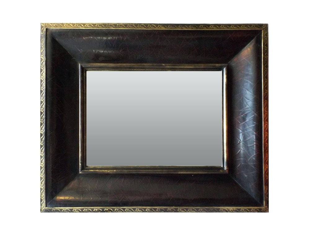 Wall Mirrors ~ Roman Numerals Clock Accessories Large Decorative Throughout Leather Framed Wall Mirrors (#13 of 15)