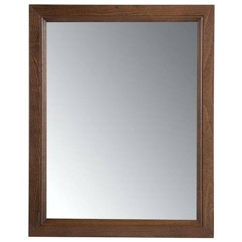 Wall Mirrors ~ Rustic Cherry Full Length Or Floor Mirror Gloss With Cherry Wood Framed Wall Mirrors (#14 of 15)