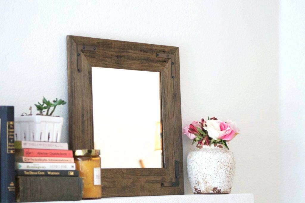 Wall Mirrors ~ Rustic Timber Framed Mirror Aspire Rustic Wood Wall Intended For Wooden Framed Wall Mirrors (#12 of 15)