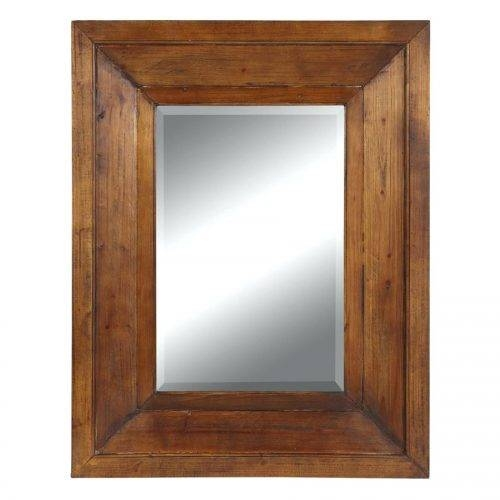 Wall Mirrors ~ Rustic Wood Framed Bathroom Mirror Rustic Timber For Timber Mirrors (View 6 of 15)