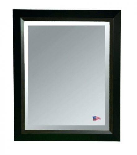 Wall Mirrors ~ Saddle Stitched Stylish Leather Framed Wall Mirror Inside Leather Framed Wall Mirrors (#14 of 15)
