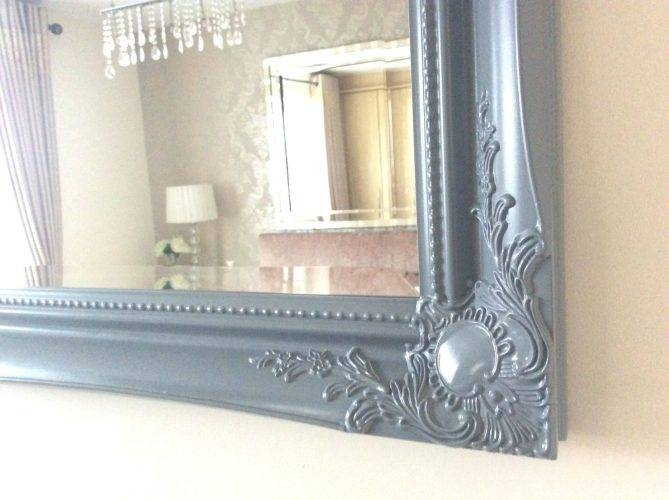 Wall Mirrors ~ Shabby Chic Mirror With Shelf Shabby Chic Grey In Wall Mirrors With Drawers (#15 of 15)