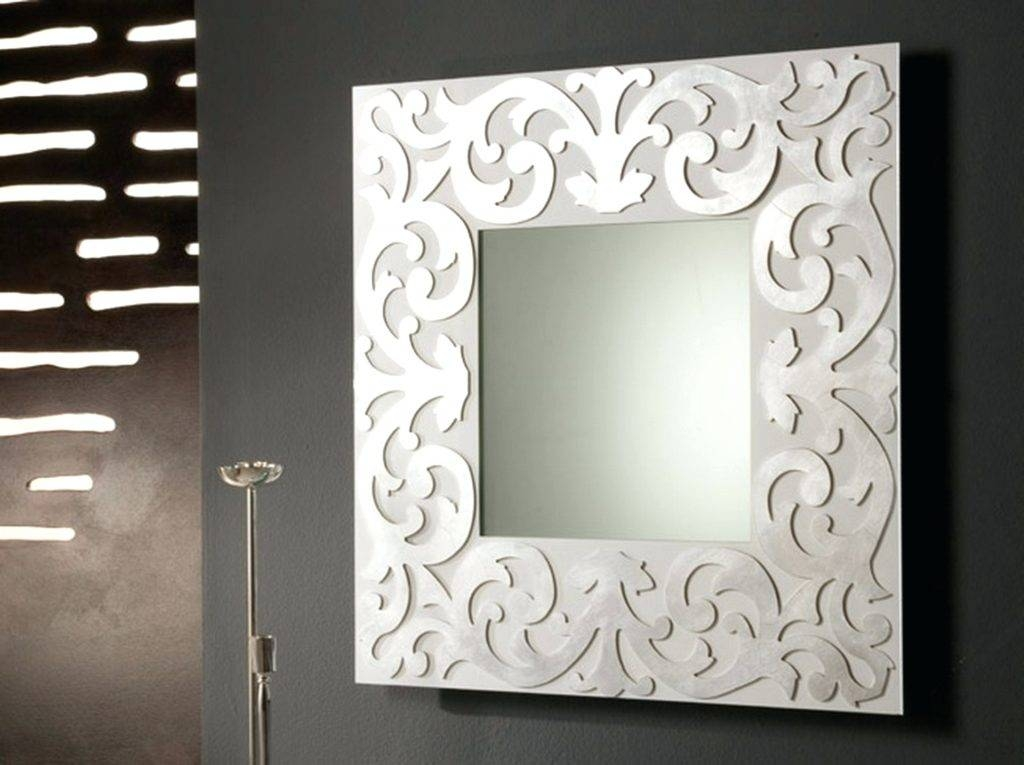 Wall Mirrors ~ Silver Wall Mirrors Decorative Interior Square Regarding Black And Silver Wall Mirrors (View 13 of 15)