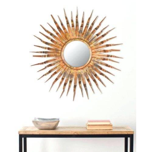 Wall Mirrors ~ Sun Shaped Wall Mirrors Safavieh Sun 37 In X 37 In Inside Sun Ray Wall Mirrors (View 3 of 15)