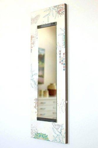 Wall Mirrors ~ Tall Wall Mirror In Ecru Journey Tall Thin Wall Regarding White Long Wall Mirrors (View 9 of 15)