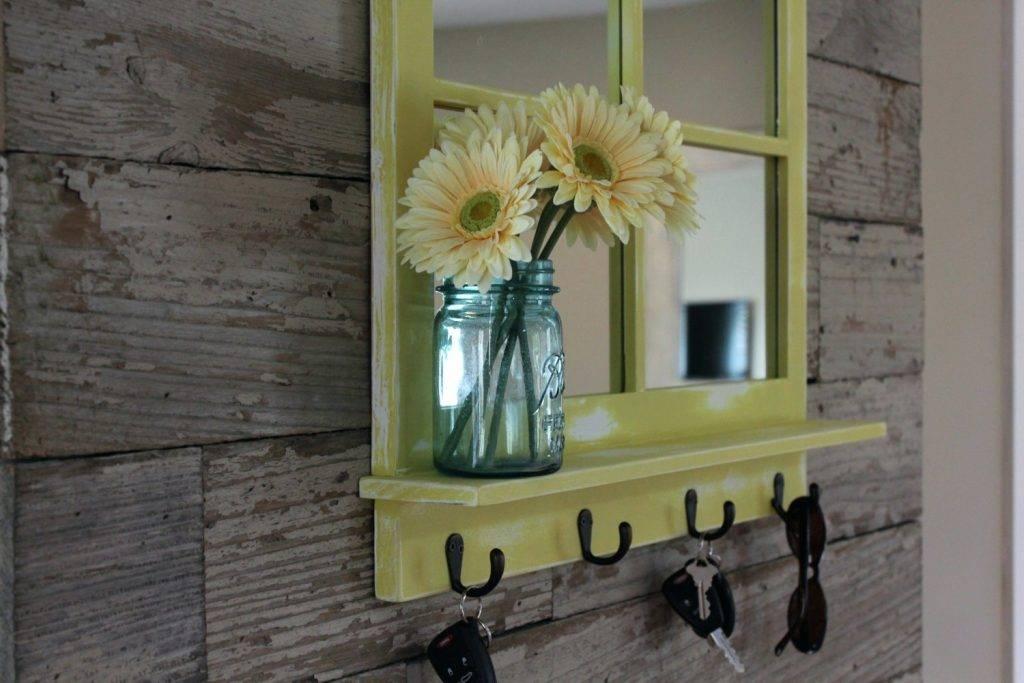 Wall Mirrors ~ Wall Mirror Coat Hooks Entry Wall Mirror With Hooks With Regard To Wall Mirror With Coat Hooks (View 14 of 15)