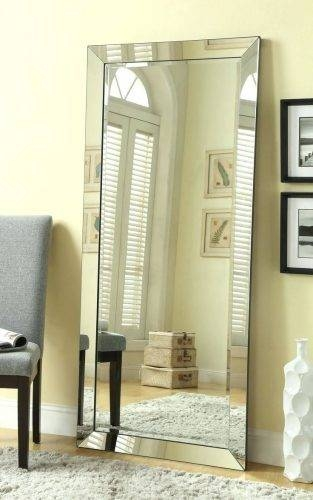 Wall Mirrors ~ White Framed Full Length Wall Mirror Oak Framed For Framed Full Length Wall Mirrors (#14 of 15)