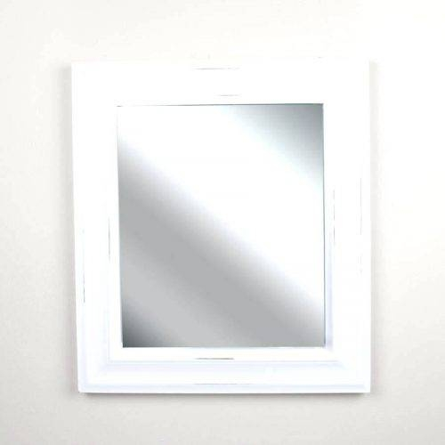Wall Mirrors ~ White Framed Mirror With Hooks Pottery Barn White Intended For White Wall Mirrors With Hooks (#11 of 15)