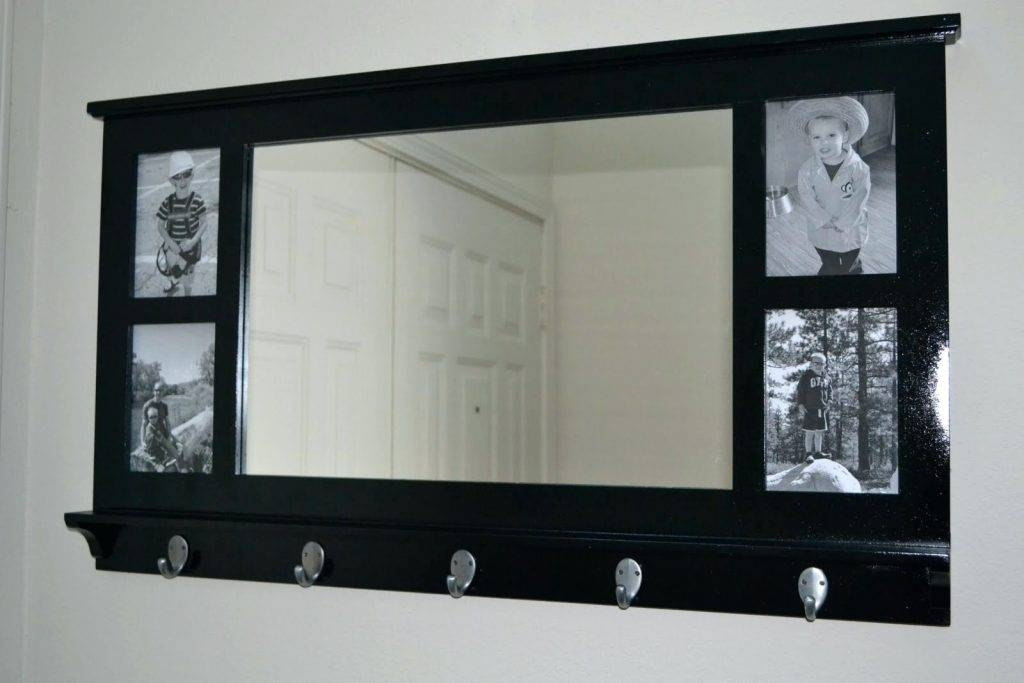 Wall Mirrors ~ White Wall Shelf With Coat Hooks Mirror Picture With Regard To Wall Mirror With Coat Hooks (#15 of 15)