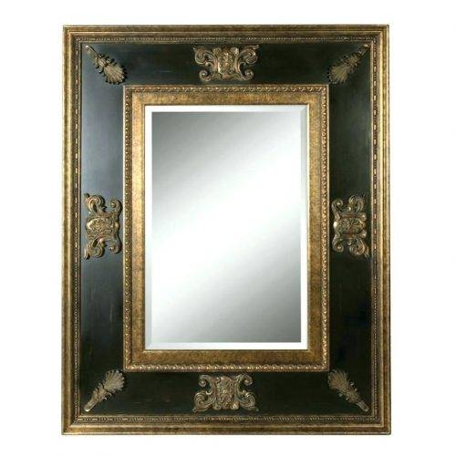 Wall Mirrors ~ Wood Wall Mirrors Uk Dark Wood Framed Wall Mirrors For Dark Wood Wall Mirrors (#11 of 15)