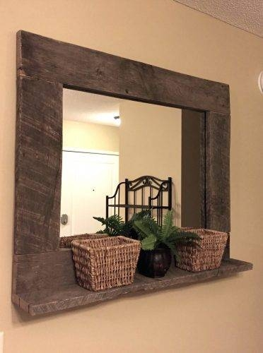 Wall Mirrors ~ Wood Wall Mirrors Uk Dark Wood Framed Wall Mirrors Regarding Dark Wood Wall Mirrors (#13 of 15)