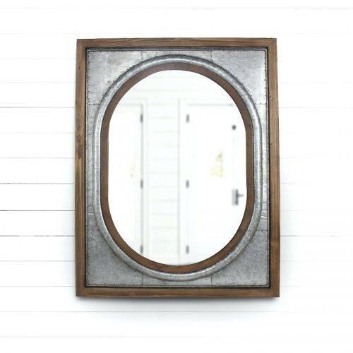 Wall Mirrors ~ Wrought Iron Wall Mirrors Tin Framed Wall Mirror With Iron Wall Mirrors (#13 of 15)