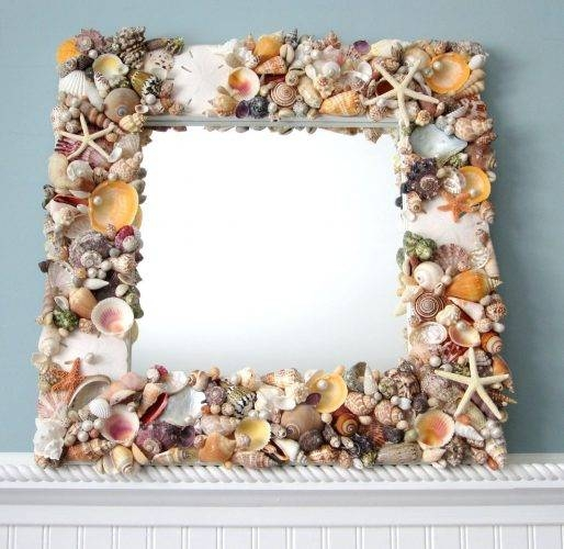 Wall Mirrors ~ Zoom Seashell Wall Mirror Flower Capiz Seashell With Regard To Seashell Wall Mirrors (#15 of 15)