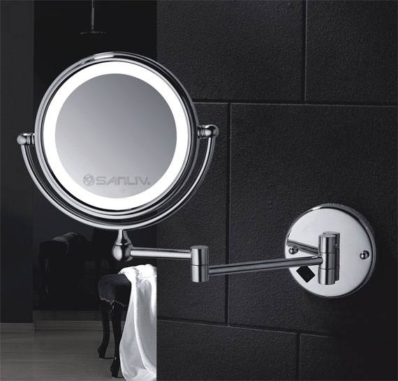 Wall Mount Shaving Mirror   Hotel Bathroom Hardware & Accessories With Magnifying Wall Mirrors For Bathroom (View 4 of 15)