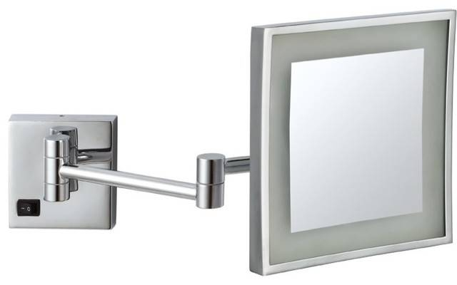 Wall Mounted 3X Lighted Makeup Mirror – Contemporary – Makeup Inside Lit Makeup Mirrors (#14 of 15)