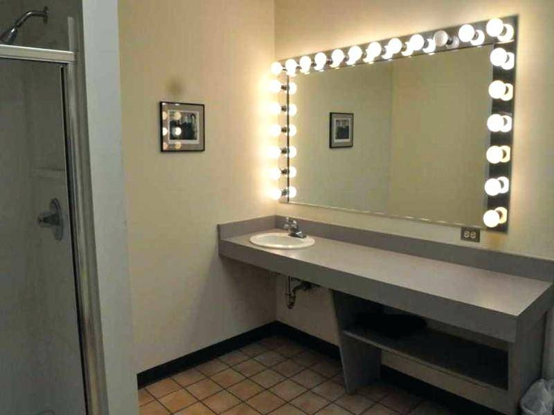Wall Mounted Lighted Makeup Mirror 10X Magnifying With Lights Pertaining To Wall Mounted Lighted Makeup Mirrors (#14 of 15)