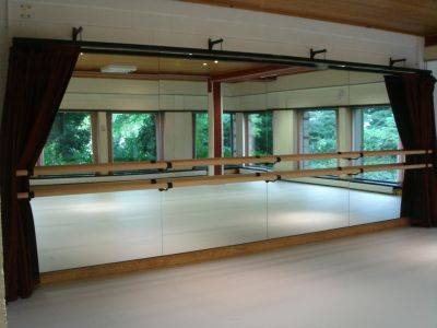 Wall Mounted Mirrors And Curtains For Dance Studios Within Dance Wall Mirrors (#15 of 15)