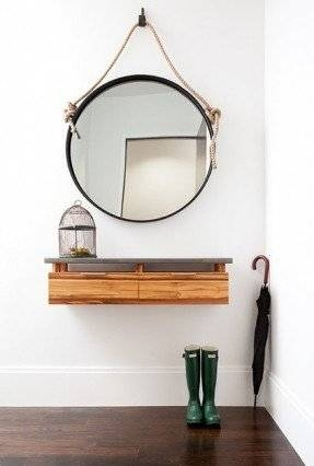 Wall Mounted Shelf With Hooks – Foter With Wall Mirrors With Shelf And Hooks (#15 of 15)