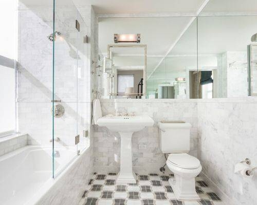 Wall To Wall Mirrors | Houzz Within Bath Wall Mirrors (#15 of 15)