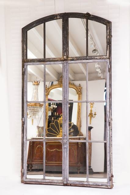 Wallrocks French Wrought Iron Mirror – Farmhouse – Wall Mirrors Intended For Wrought Iron Wall Mirrors (#10 of 15)