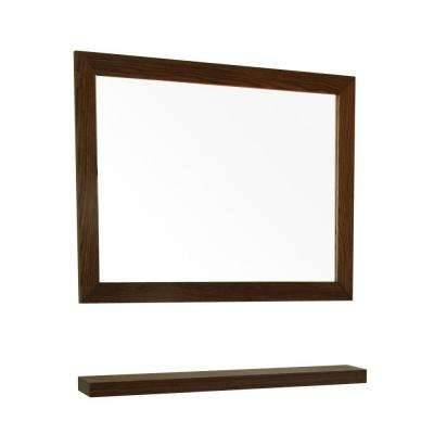 Walnut – Bathroom Mirrors – Bath – The Home Depot With Brown Wall Mirrors (#15 of 15)