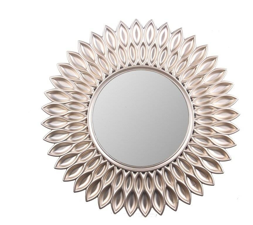 Wee's Beyond Sunflower Decorative Wall Mirror & Reviews   Wayfair Pertaining To Decorative Wall Mirrors (#14 of 15)