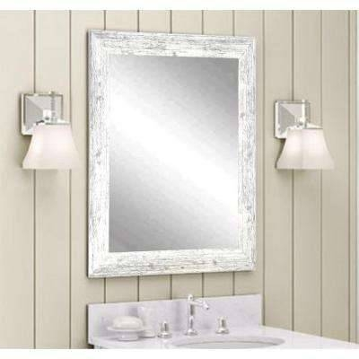 White – Composite – Wall Mirrors – Mirrors – The Home Depot Pertaining To Distressed White Wall Mirrors (#13 of 15)
