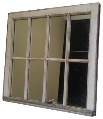 White Distressed Window Mirror – Wall Mirrors  The Decorative Throughout Distressed Wall Mirrors (#15 of 15)