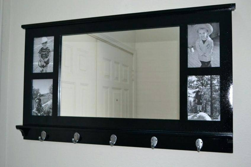 White Framed Mirror With Hooks Bathroom Mirror With Shelf And Inside White Wall Mirrors With Hooks (#14 of 15)